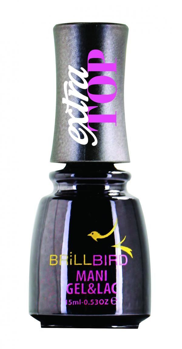 Brillbird Extra Top - fixálásmentes, univerzális fedőfény 15ml