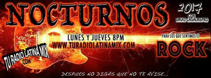 2017! Vamos por mas! Con todo el Rock! Lunes y Jueves 8pm solo por www.turadiolatinamix.com #nocturnos #nocturnosrockradio #utahrocks #rockinutah #rocklatino #rockenespañol #davidcasalaspro
