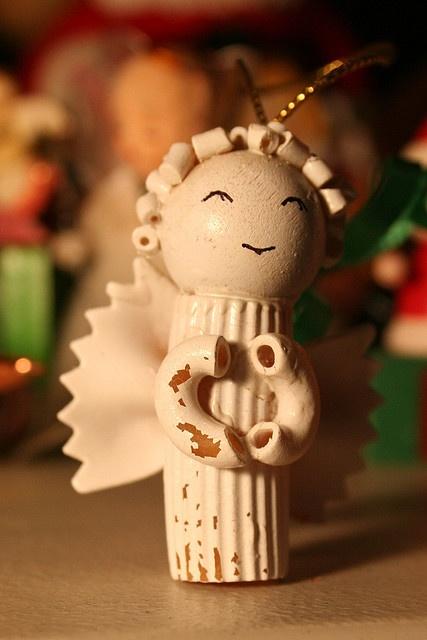 My Nan made me a macaroni Christmas Angel just like this one