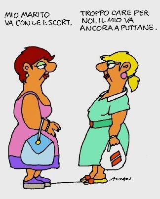 """η γυναίκα αριστερά: """"ο σύζυγός μου πάει με συνοδούς / η γυναίκα δεξιά: """"πολύ ακριβό για μας. O δικός μου πάει ακόμα με πουτάνες."""""""