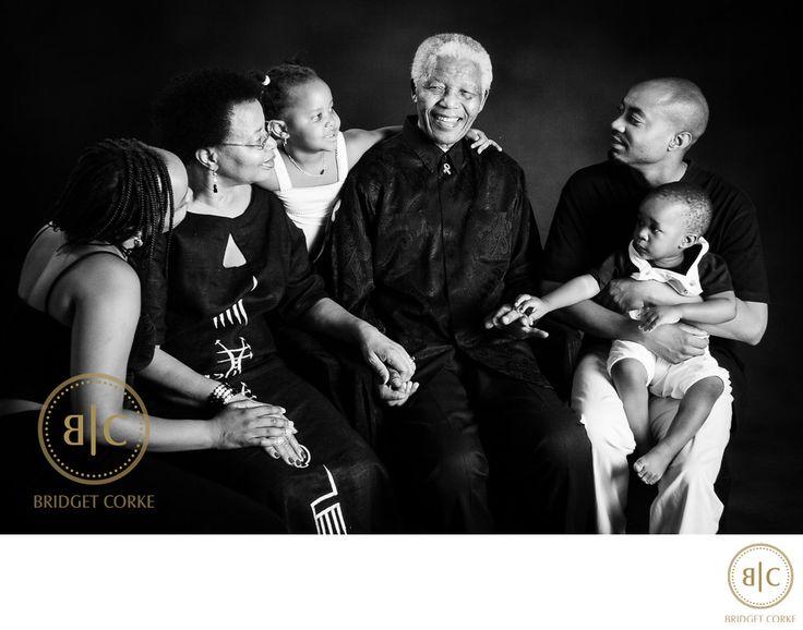 Bridget Corke Photography - Nelson Mandela,Graca Machel and grandchildren Photographed in 2008: