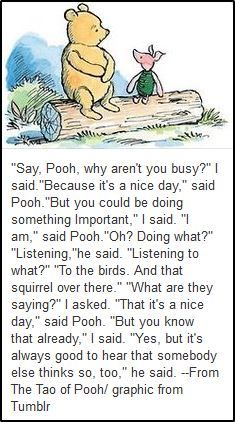 It's a nice day - Tao of Pooh