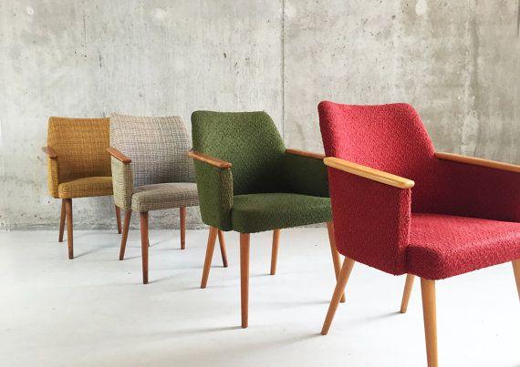 4 francese sedie occasionali di 1960 di properstuff su Etsy