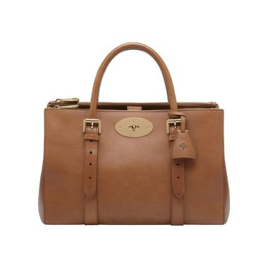 Mulberry Gift Kaleidoscope | Oak - Bayswater Double Zip Tote in Oak Natural Leather NEW