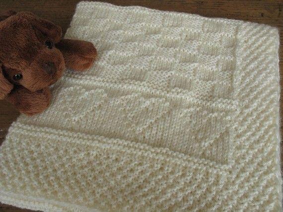 patron tricot couverture