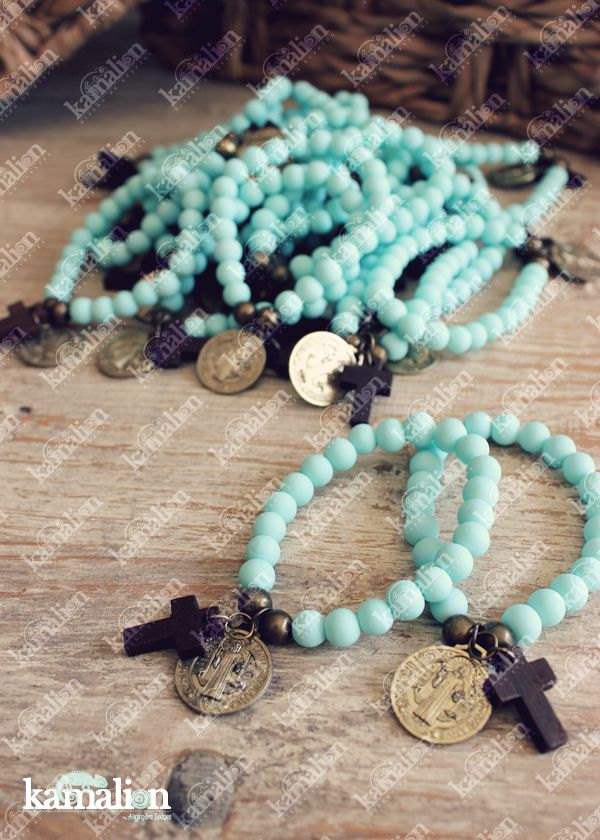 www.kamalion.com.mx - Detalles / Pulseras / Bracelet / Bautizo / Azul / Blue…
