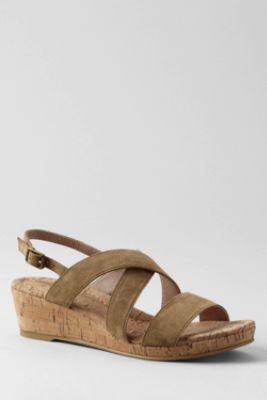 Women's Regular Perri Cork Wedge Sandals
