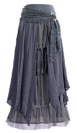 Midsummer - Layered Skirt with Brooch--