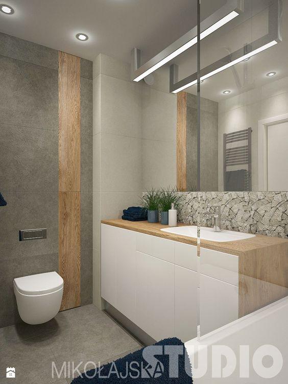 Aranżacje wnętrz - Łazienka: łazienka z niebieskim akcentem - MIKOŁAJSKAstudio. Przeglądaj, dodawaj i zapisuj najlepsze zdjęcia, pomysły i inspiracje designerskie. W bazie mamy już prawie milion fotografii!: