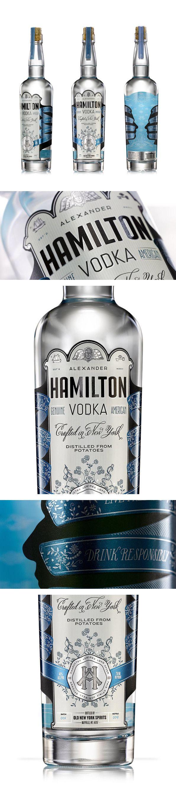 Alexander Hamilton Vodka By Steven Bonner