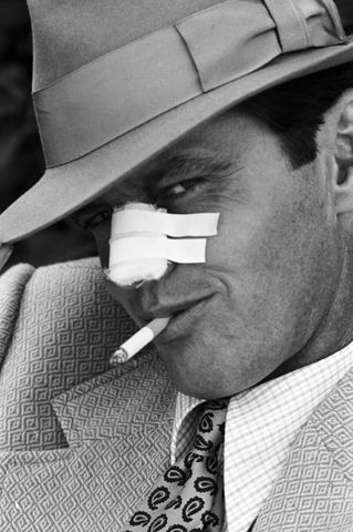 "Jack Nicholson as J.J. Gittes in 'Chinatown'. ""FORGET IT JAKE, IT'S CHINATOWN"""