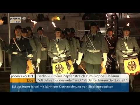 """Großer Zapfenstreich """"60 Jahre Bundeswehr"""" - YouTube"""