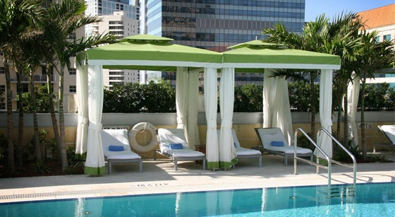 Private poolside pavilions.
