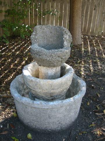 Hypertufa Water Fountain