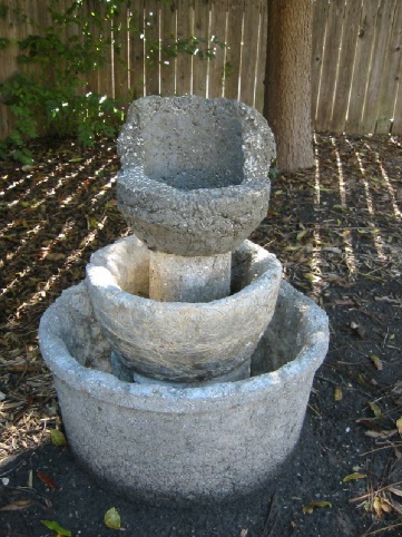 Hypertufa Water Fountain