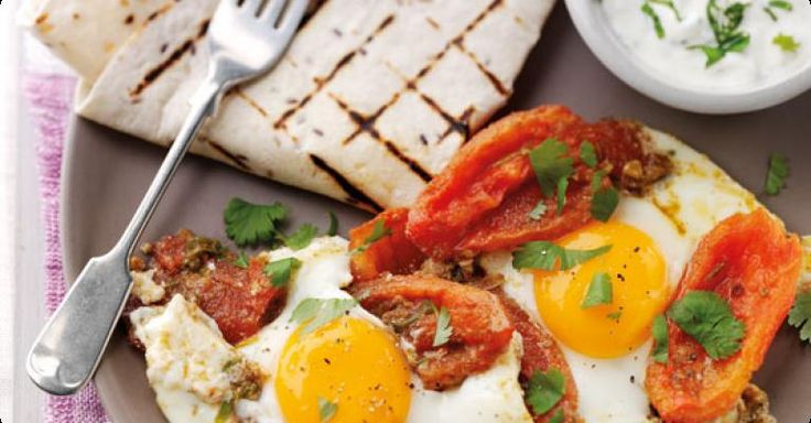 Sophie Wright's Moroccan spiced eggs and tomatoes with a minted yoghurt 'A great brunch or lunch recipe full of flavour - and it's healthy too'