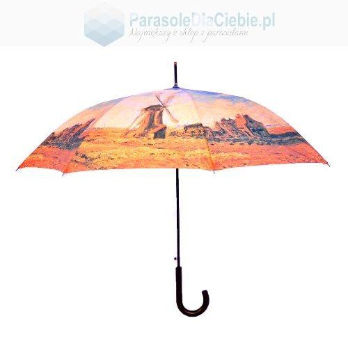 Parasol długi Doppler nadruk Wiatrak, Monet
