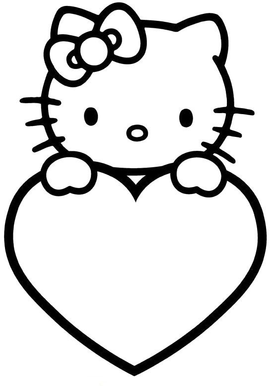 Hello Kitty Valentines Day Coloring