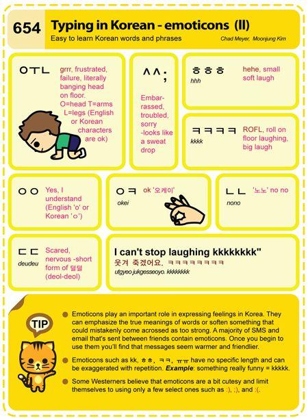 654 Typing in Korean - emoticons (II)
