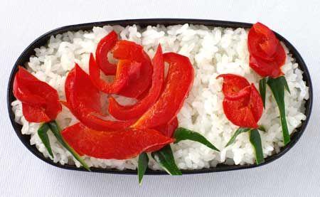 paprika rose bento