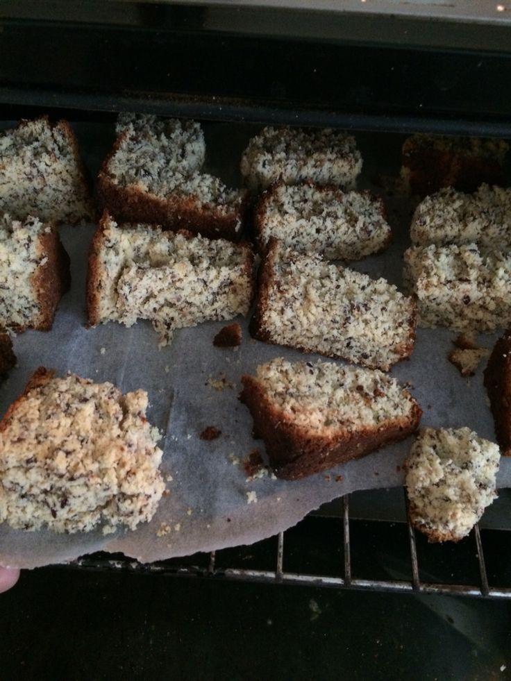 Coconut flour & flaxseed rusks GF