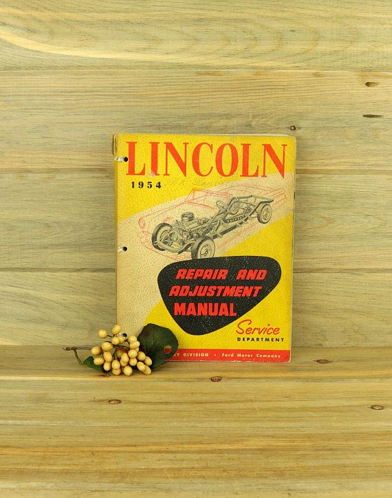 lincoln service manual