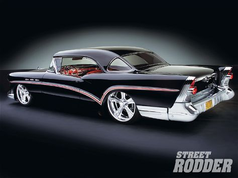 57 Buick Special triple rear window