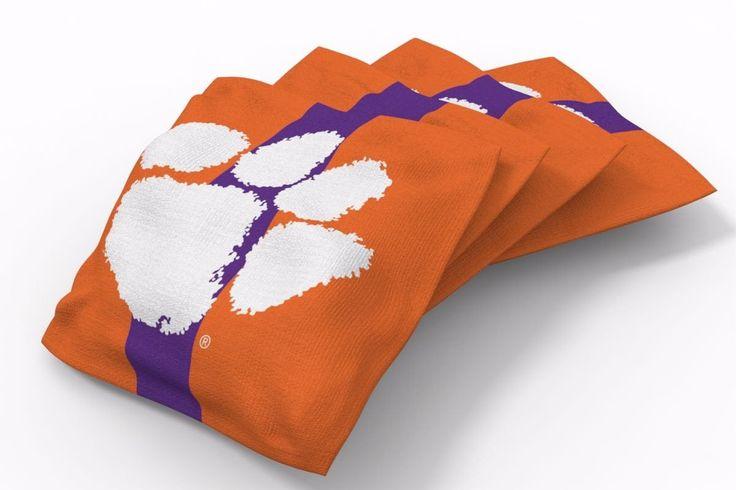 Clemson Tigers Stripe Bean Bags-4pk (B)