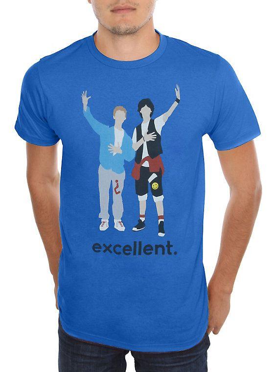 Bill & Ted's Excellent Adventure Excellent Cartoon T-Shirt,