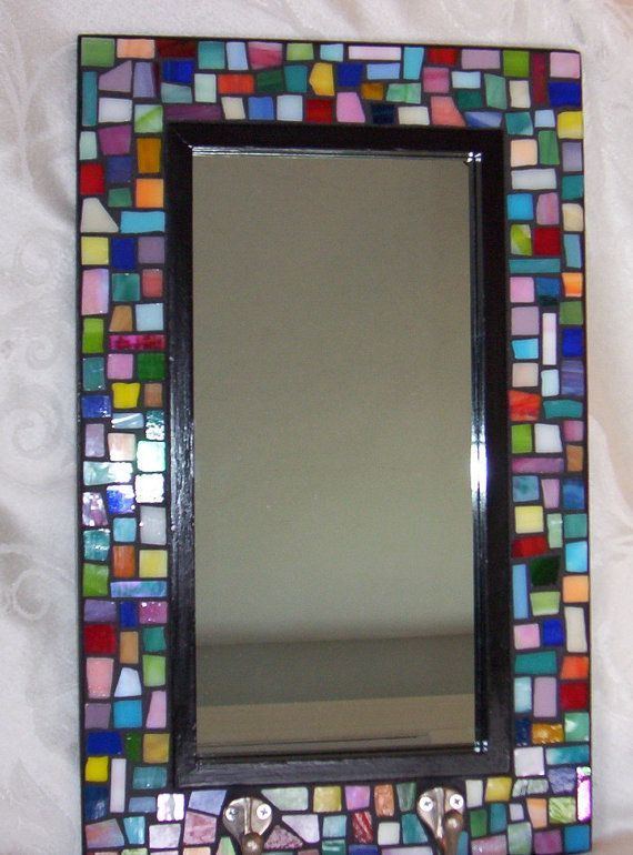 Mosaic Mirror with Hooks Stained Glass by StarryNightStudios99.