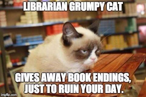 Librarian grumpy cat