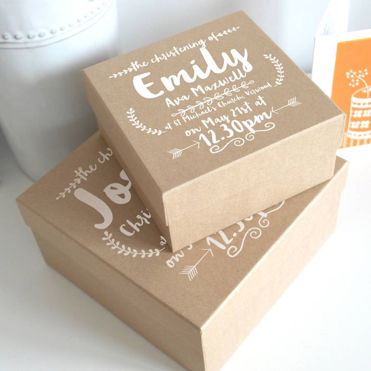 Personalised Christening Keepsake Gift Box