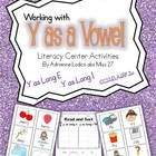 Engage your students in learning long vowel sounds for y with these great activities! Included in this pack is 4 center/small group games, center instructions and center management board mini-cards.  All activity cards are in full color.  Coordinating activity sheets are black and white.     *Download the preview to view examples, a free cut-and-paste printable and a Roll~Say~Keep game board.*   While designed for use in my first grade classroom, second and third graders may need practice…