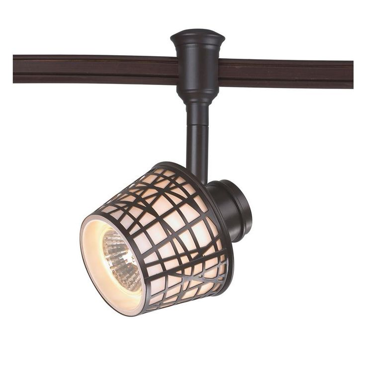Commercial Electric 1-Light Bronze Convertible Basket Flexible Track Lighting Head-EC4624ABZ-A - The Home Depot