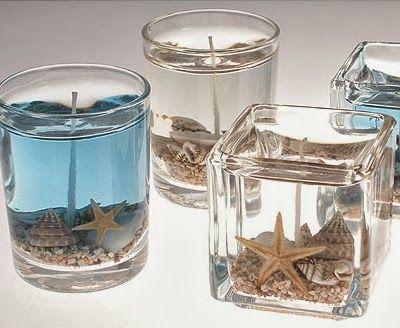 beach sea gel candles