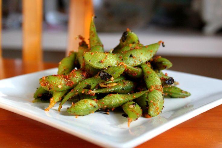 Spicy Edamame by 52kitchenadventures.com #Edamame #Snacks #52kitchenadventures