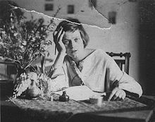 "Emmy Hennings (17 February 1885 – 10 August 1948) was a performer & poet & the wife of Dadaist Hugo Ball. In The Magic Bishop: Hugo Ball, Dada Poet, author Erdmute Wenzel White writes that Hennings ""was admired by expressionists as the incarnation of the cabaret artist of her time... The shining star of the Voltaire,  her role in Dada has not been adequately acknowledged."" ""A death angel stands in the middle of my room.  Yet I dance till I'm out of breath...Oh, give me kisses up till death."""