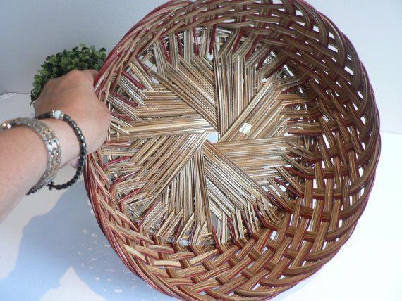 Large Boho Woven Straw Basket  Wall Decor Boho Wall Decor