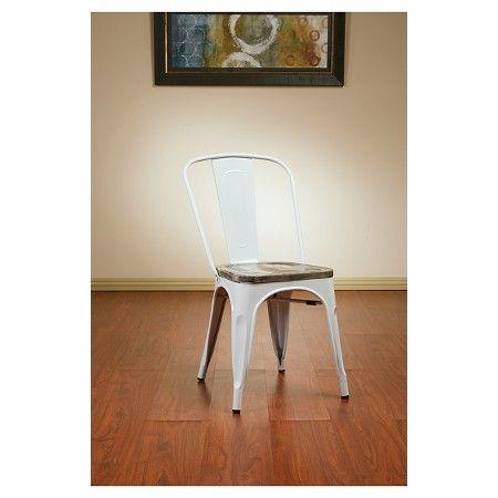 Osp Designs Bristow Distressed Wood Seat Chair Metal : Target