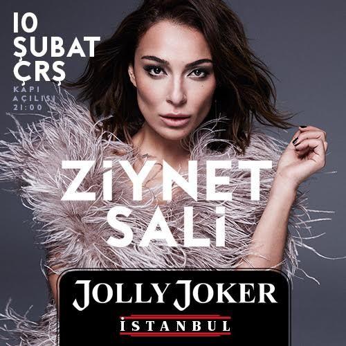 Ziynet Sali @ Jolly Joker İstanbul Ziynet Sali en sevilen şarkılarıyla 10 Şubat akşamı Jolly Joker İstanbul Sahnesinde... Romantik şarkılarıyla milyonların kalbini fetheden Ziynet Sali uzu