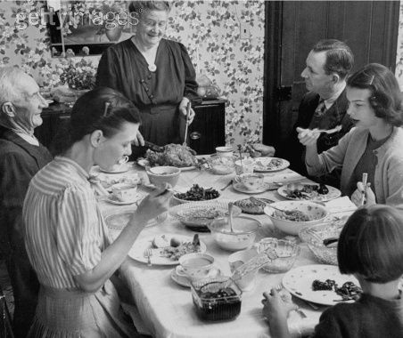 Remember Sunday dinners? Either the relatives came to your house or you went to theirs. Such simpler less stressful times. Always...