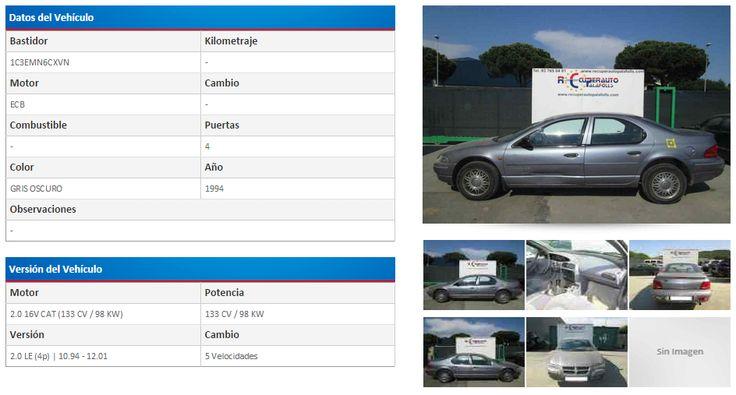 CHRYSLER STRATUS BERLINA (JA) 2.0 LE (133 CV) | 10.94 - 12.01