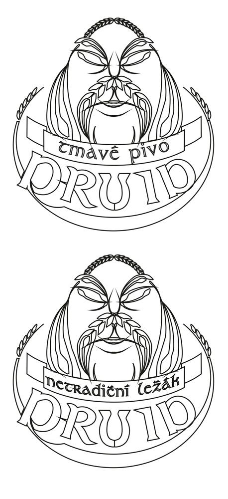 návrh loga   pivovar Druid * Kadaňský Rohozec @ 2010