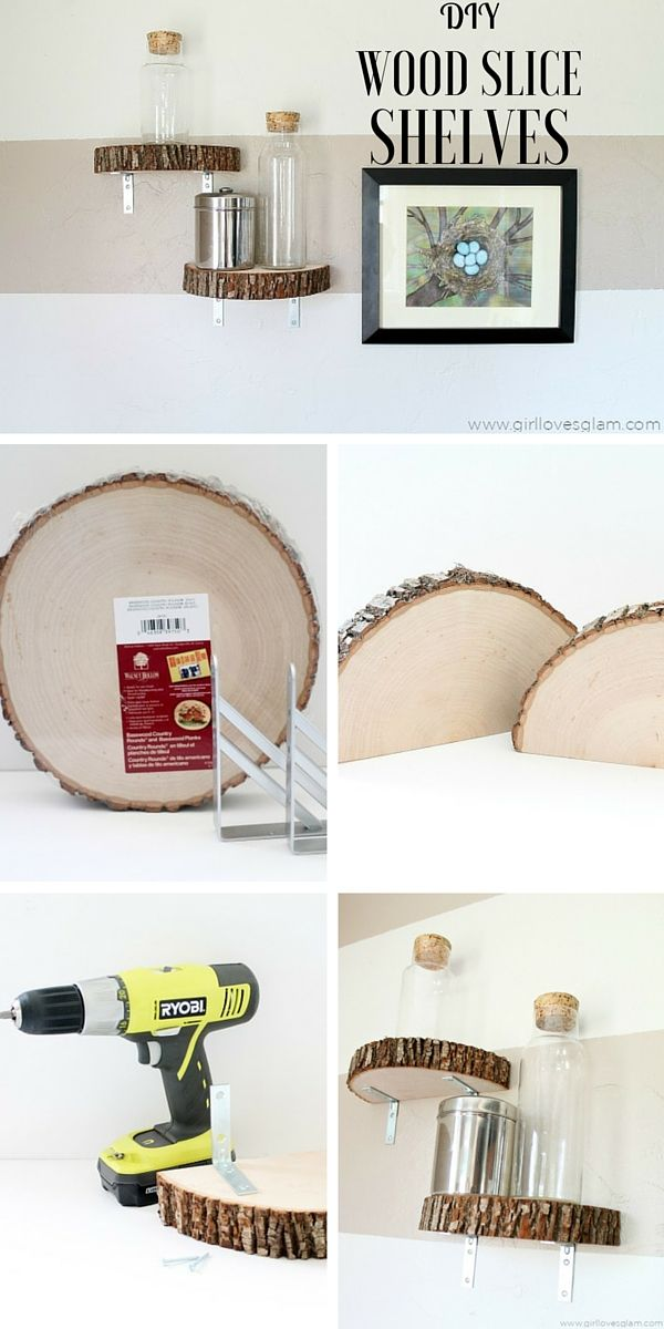 Check out the tutorial: #DIY Wood Slice Shelves @istandarddesign