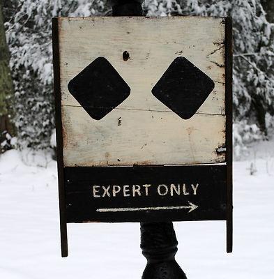 Vintage Black Double Diamond Ski Sign Vintage Ski Sign Old Wooden Trade Sign | eBay