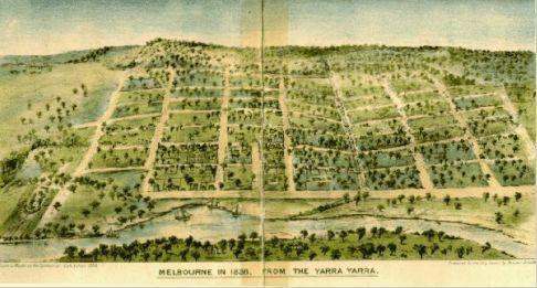 Melbourne in 1836