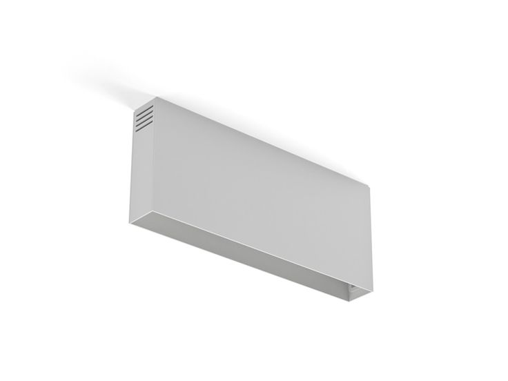 Surface indoor lighting fixture IP20. Aluminium extrusion manufactured. Matt difusers. Driver is included. Interior finished in different texturized colors.