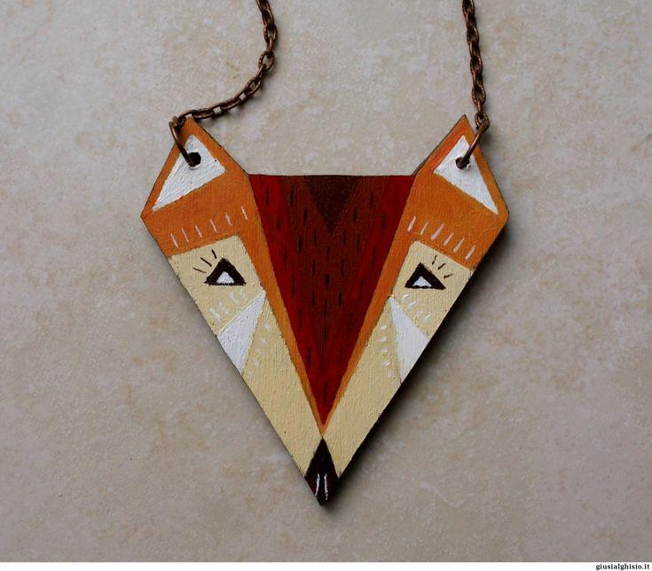 Collana volpe geometrica - Giusi Alghisio - collana volpe