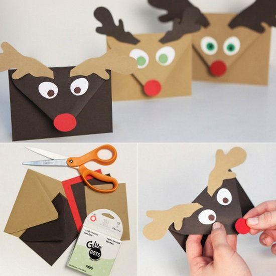 sobres para tus tarjetas de navidad:  http://www.manualidadesinfantiles.org/sobres-postales-navidad/