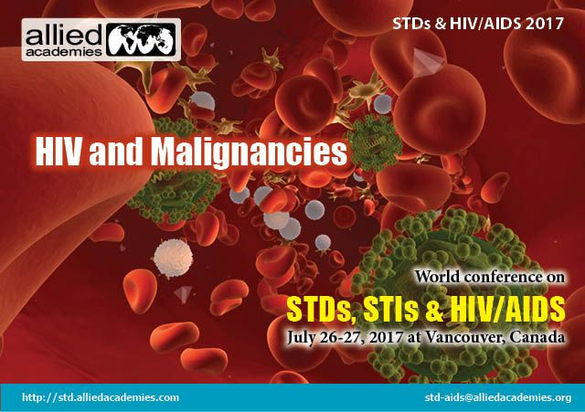 """HIV and Malignancies People infected with HIV have a significantly higher risk of some types of cancer compared with uninfected people of the same age. Three of these cancers are known as """"AIDS-defining malignancies"""" #Kaposi sarcoma, cervical cancer & non-Hodgkin lymphoma. A detection of any one of these cancers marks the point at which #HIV infection has progressed to AIDS. Most types of cancer begin when normal cells begin to modify and grow uncontrollably, forming a mass called a tumor."""